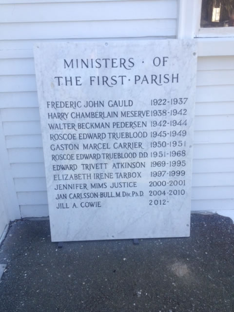 Cohasset First Parish Church Stone Engraving